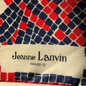 Accessories - Vintage Jeanne Lanvin Paris Silk Twill Scarf